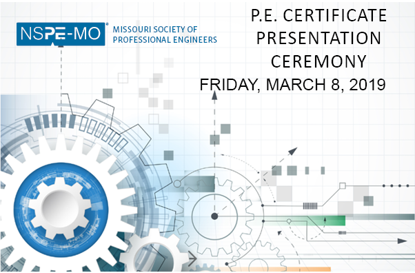 missouri society  professional engineers pe certificate  ceremony